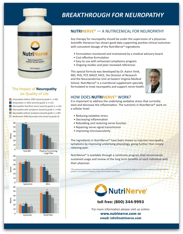 NutriNerve Physician Brochure, product information for physicians